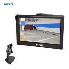 """DIYKIT 5 インチカーモニター Tft 液晶 5 """"HD デジタル 16:9 800*480 スクリーン 2 ウェイビデオ入力リバースリアビューカメラ用 DVD VCD"""