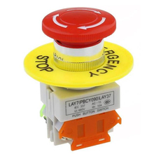 1NC DPST аварийной остановки кнопочный переключатель переменного тока 660V 10A коммутационное оборудование лифт с фиксацией Самостоятельная Блокировка красный гриб