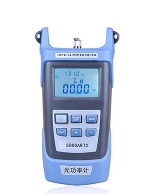 2016 handheld fibra Óptica Power Meter com 7 conector FC SC 1 set/lote comprimento de onda