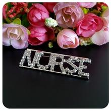 Bling Crystal Word Brooch Pin for Nurses