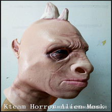 Free shipping Halloween Cosplay The Awesome Nice rhino Mask Advertisement rhino Toys wholesale Fancy Dress Latex Movie Costumes