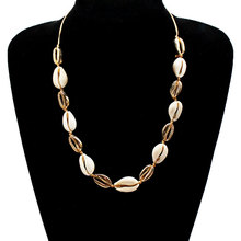 Creative New Gold Shell Rope Chain Necklace Pendants Adjustable Long Clavicle Choker Jewelry