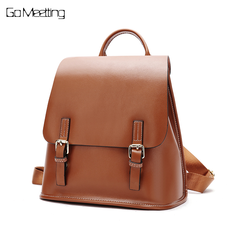 zooler backpack casual 2017 new high quality woman leather backpacks school bag red pots designed backpack mochila d118 Go Meetting Casual Backpack Women Genuine Leather kanken Backpacks For Girls School Bag Mochila High Quality Travel Bag bagpack