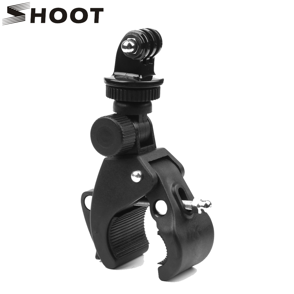 For gopro Hero 5 4 3 sjcam SJ4000 SJ7000 xiaomi Yi 4K H9 Rotatable Bicycle Handlebar Cycling Clamp Mount for Cam Holder Clip miniisw m ac universal curved surface mount kit for gopro hero 4 3 3 hero2 hero sj4000 black