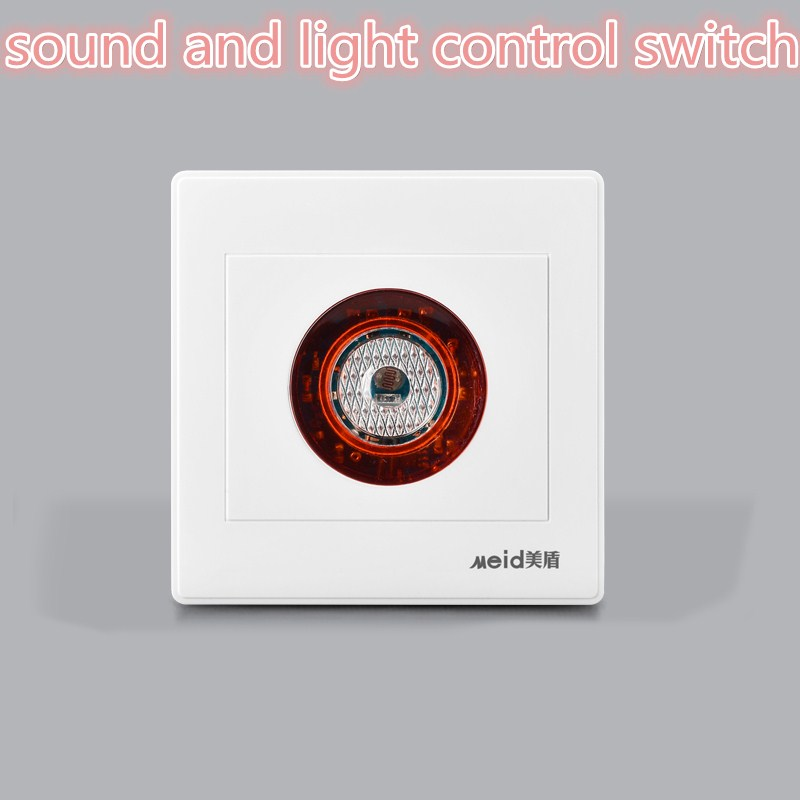 Intelligent AC220V  Auto On Off Light Sound Voice Sensor Switch Time Delay For Corridor Stair Warehouse CM105 high quality sound and light control switch delay 60s sensor switch 220v ac 50hz 60w 25w 5w 95db 75db free shipping