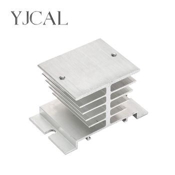 цена на Single Phase Solid State Relay SSR Aluminum Heat Sink Dissipation Radiator Heatsinks Suitable For 10A-25A Relay