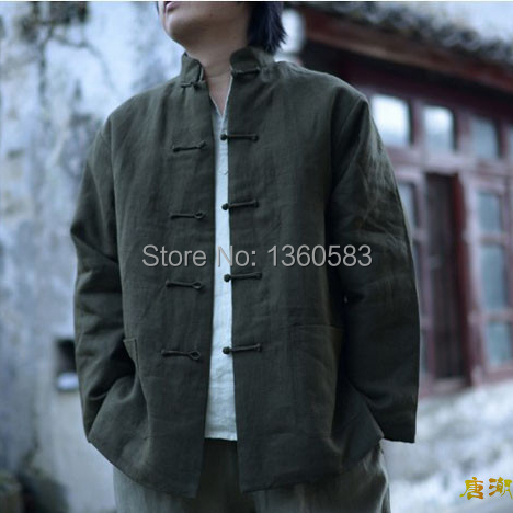 f0b00dda22 Pure Cotton Traditional Chinese Clothes Tang Suit Top Kung Fu Tai Chi  Uniform Spring Autumn Shirt Blouse MartialArt Coat for Men