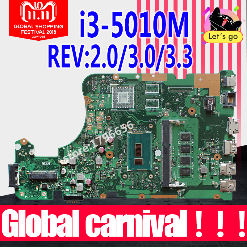 X555LD Motherboard i3-5010-4GB For ASUS X555L A555L K555L X555LP laptop Motherboard X555LA Mainboard X555LD Motherboard test OK