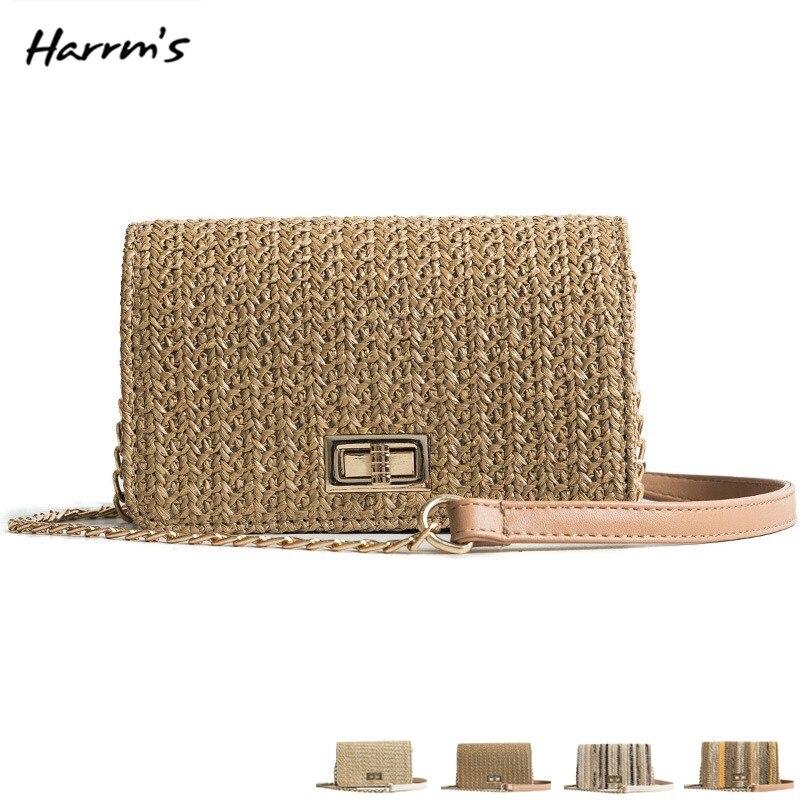Summer Women 2018 Handmade Messenger Retro Bag Bamboo Handbag Rattan Bags Travel Box Mini Straw Exquisiteness Bag Birthday Gift