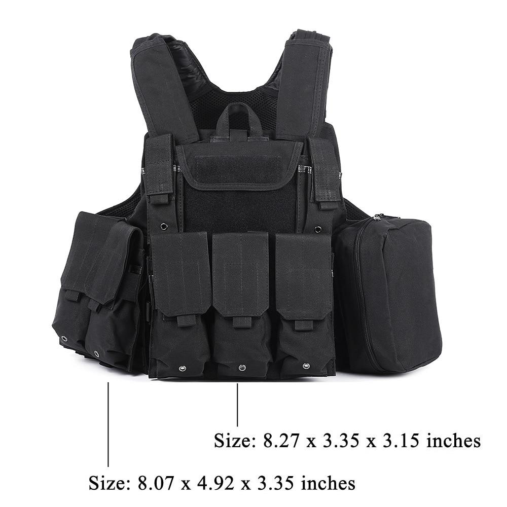 Gilet tactique de chasse avec beaucoup de poches militaire Molle - Sportswear et accessoires - Photo 6