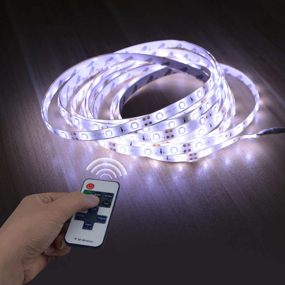 LED Di Bawah Kabinet Putih/Warm Putih Dimmable Lampu LED Strip dengan RF Dimmer 60 LED/M Fleksibel pita LED Lemari Dapur Cahaya