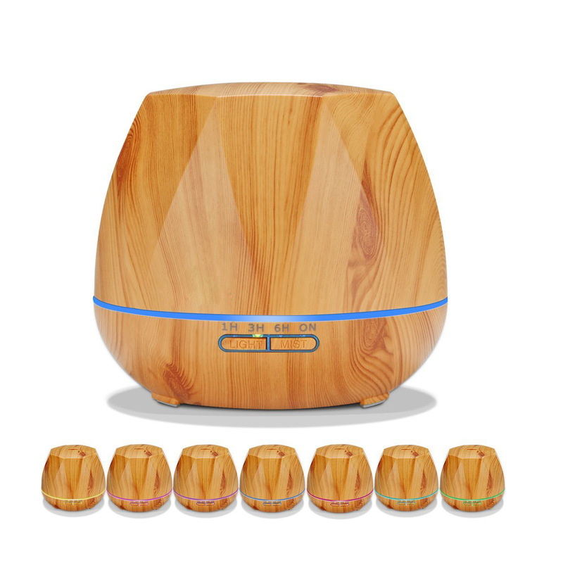 New Hot Sell Household Remote Control Aroma Diffuser 550ML Air Humidifier Aromatherapy Essential Oil Diffuser With Color Light