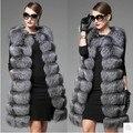 S-4xl Code Furry Vest New High Imitation Fur Vest Vest Dress Imitation Silver Fox Fox Fur Coat Korean Large Long Code