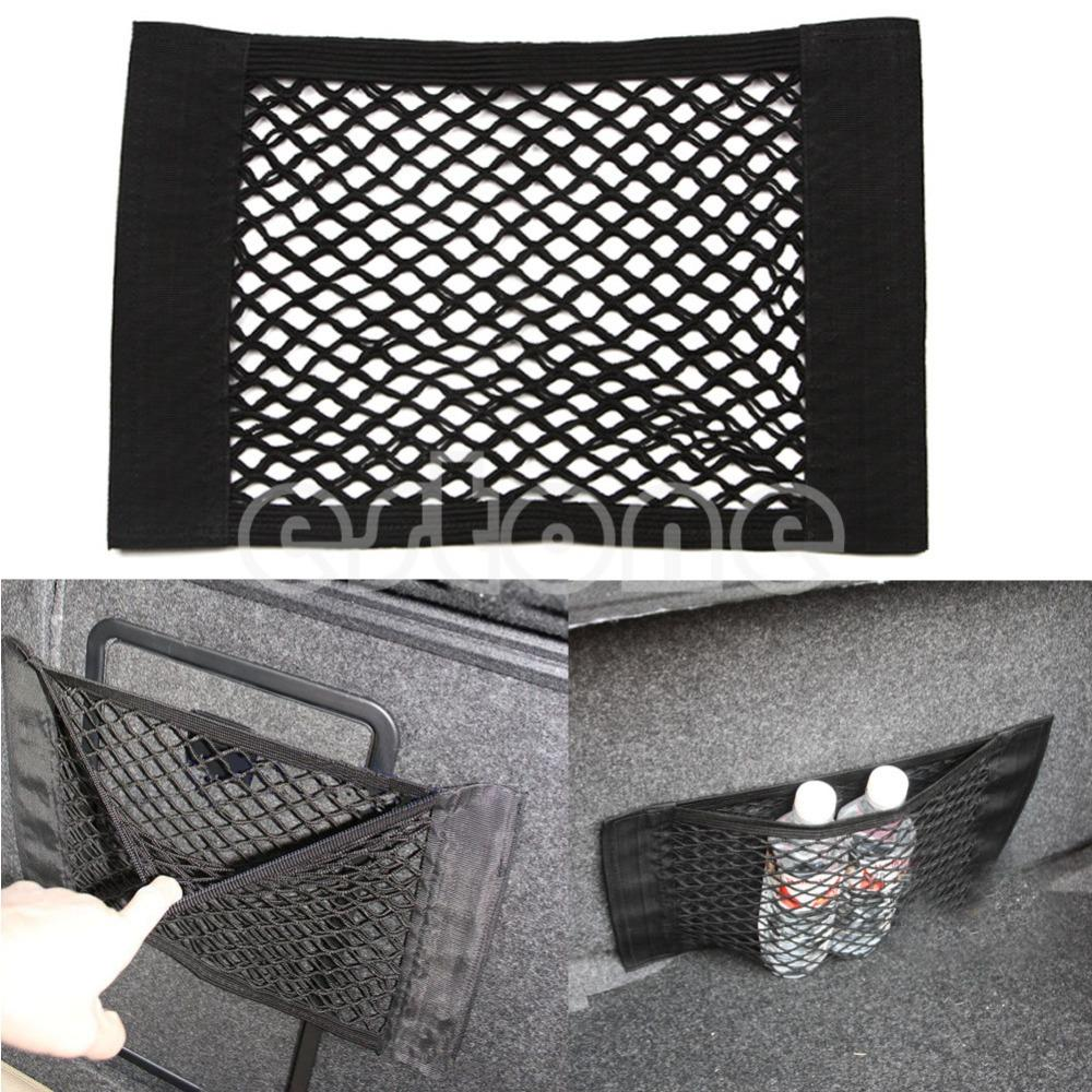 1PC Kereta Belakang Rear Trunk Seat String Elastic Net Mesh Storage Bag Pocket Cage