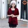CDS055  Free Shipping 2014 Europe New Item Fashion Winter Knitted Genuine Mink Fur Shawl