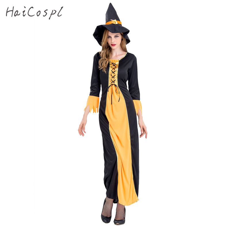 Witch Halloween Costumes For Women Sexy Dress Festival Party Cosplay Disguise Female Fancy Role Play Games Fantasias Adult