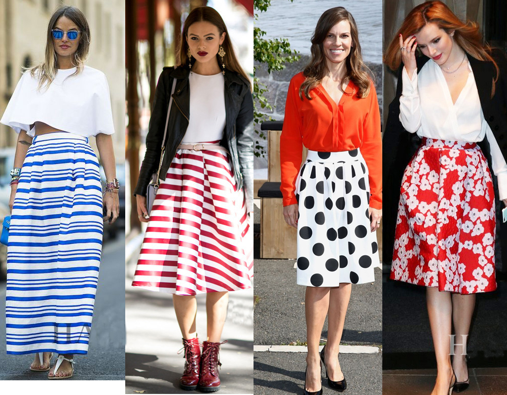Polka Dots Women Long Skirt