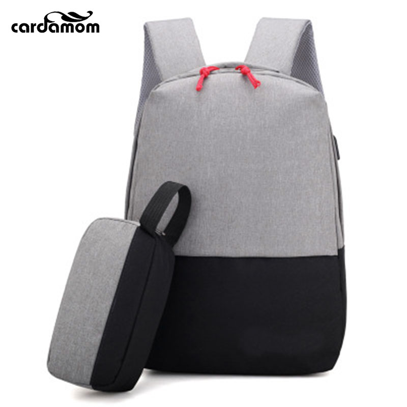 Cardamom Business Computer Backpack 15.6 inch Men Women With Small USB Interface Charge Wear-resistant Student Backpacks ozuko multi functional men backpack waterproof usb charge computer backpacks 15inch laptop bag creative student school bags 2018
