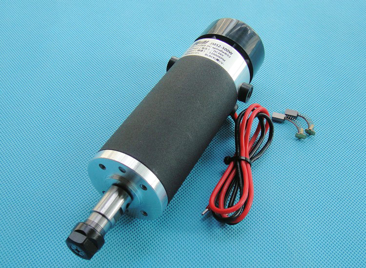 High Speed Brush Air Cooling Spindle Motor PCB Engraver Spindle 48V 3.175mm ER11 500W dc110v 500w er11 high speed brush with air cooling spindle motor with power fixed diy engraving machine spindle
