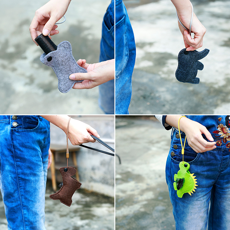 portable pet dog puppy poo waste pick-up bags poop bag holder hook pouch box HP