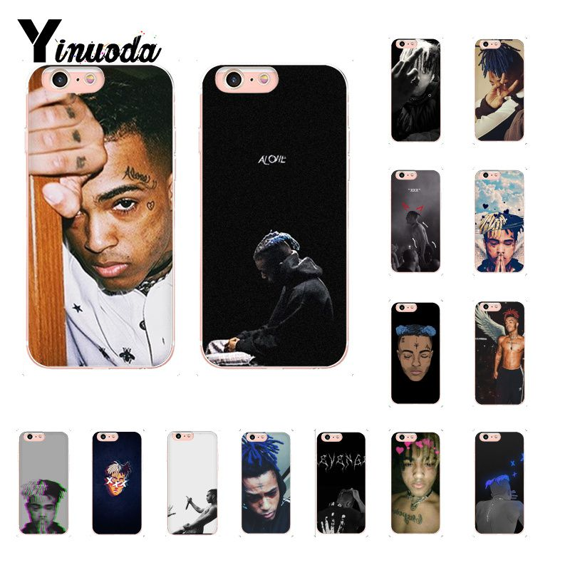Yinuoda <font><b>XXXTENTACION</b></font> TPU Soft Rubber Phone Cover for <font><b>iPhone</b></font> 8 <font><b>7</b></font> 6 6S Plus X XS MAX 5 5S SE XR 10 Cover image