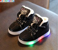 5 Colors Children Sneakers Autumn Winter Children Shoes The LED Kids Sports Shoes Han Edition Bright
