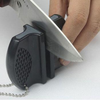 Przenośny Mini kuchenny ostrzałka akcesoria narzędzia kuchenne kreatywny typu motylkowego dwustopniowy Camping scyzoryk tanie i dobre opinie HELTC Maszyny do obróbki drewna CN (pochodzenie) Other STAINLESS STEEL Hand Tools