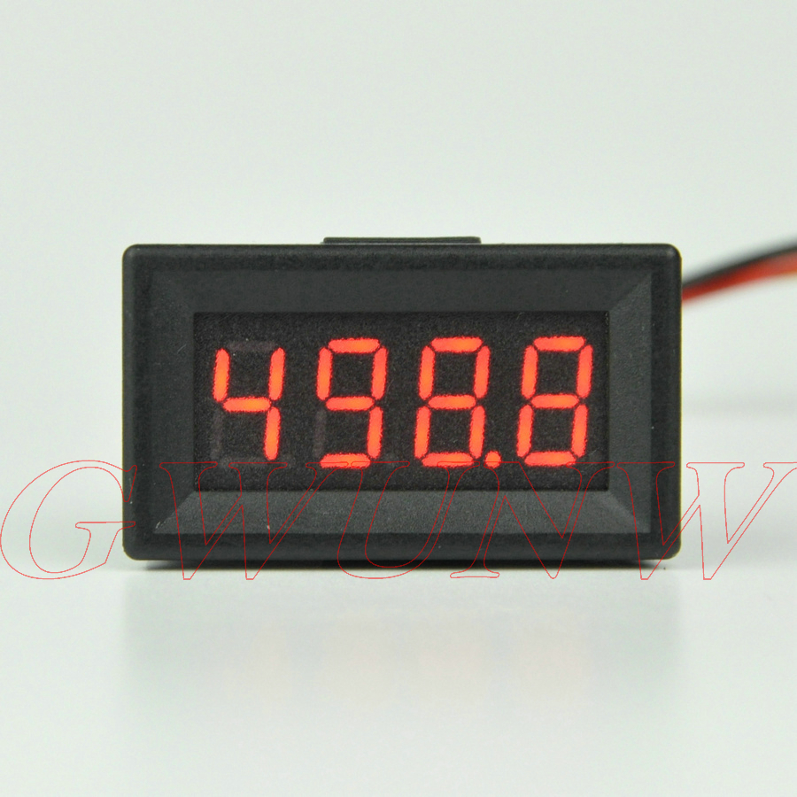 GWUNW BY436V DC 0-500.0V (500V) 4 bit 0.36inch digital voltmeter Panel Meter red blue green yellow Voltage Tester Meter gwunw by456v dc 0 30 00v 30v 4 bit digital voltmeter panel meter red blue green 0 56 inch voltage tester meter