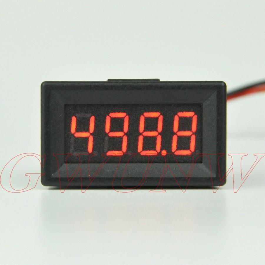 GWUNW BY436VK1 DC 0-500.0V (500V) 4 Bit 0.36inch Digital Voltmeter  Panel Meter  Red Blue Green Yellow Voltage Tester Meter