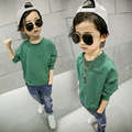 New 2017 children t shirts, cotton long sleeve boys and girls T-shirts, Hot sale pattern, cute round neck pullovers Hoodies