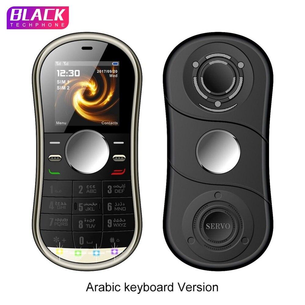 Servo S08 Handy 1,3 Zoll Dual Sim Karte GPRS Bluetooth FM Radio Hand Spinner Handy Mit Russische Tastatur