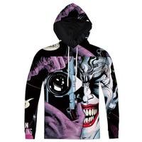 Jumeast New Men/Women DC Comics Batman Clown Print 3D Hoodies Joker Cartoon Sweatshirt Unisex O neck Casual Hooded Sweatshirts