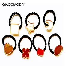 7 PCS/LOT Combined Sales Rubber Band Hair Head Rope Metal Frame for DIY UV Crystal Glue