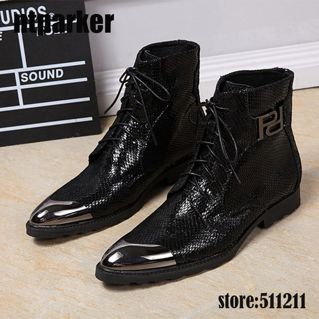 ntparker Luxury italian western black military boots leather high heels  cowboy boots mens motorcycle dress shoes Boots Pointed 517ecabe8