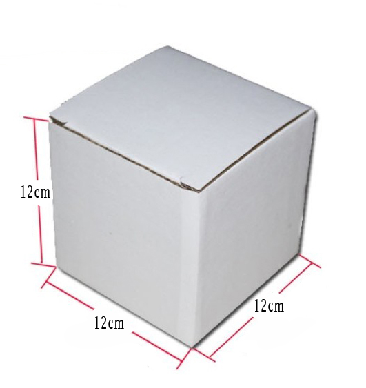 12 12 12cm white kraft paper corrugated board box candy box gift boxes100pcs lot