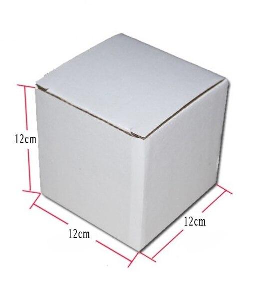 12*12*12 cm blanc kraft papier carton ondulé boîte bonbons boîte cadeau boxes100pcs/lot-in Sacs-cadeaux et emballages from Maison & Animalerie    1