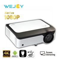 Wejoy L6 Native 1080P Full HD Projector проектор Video 4k tv Projector Android Home Theater Portable Projetor Cinema LCD focus