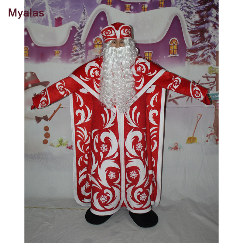 New Santa Clause Mascot Costume Character Halloween Costumes Fancy Dress Suit Customize For Adults