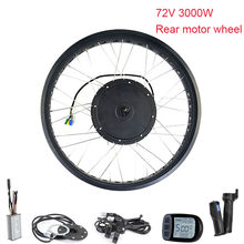Ebike Motor Wheel Electric Bicycle Conversion Kit 72V 3000W Brushless Hub Motor Bicycle Electric Motor Kit With Throttle LCD(China)
