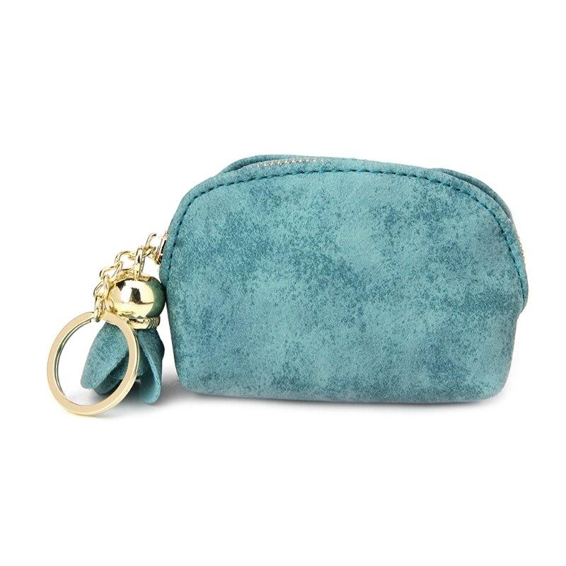 2017 Fashion Women Girls Cute Mini Coin Purse Flower Wallet Card Key Holder Zip Clutch Bag Lovely Solid Zip Hobos New Coin Bag