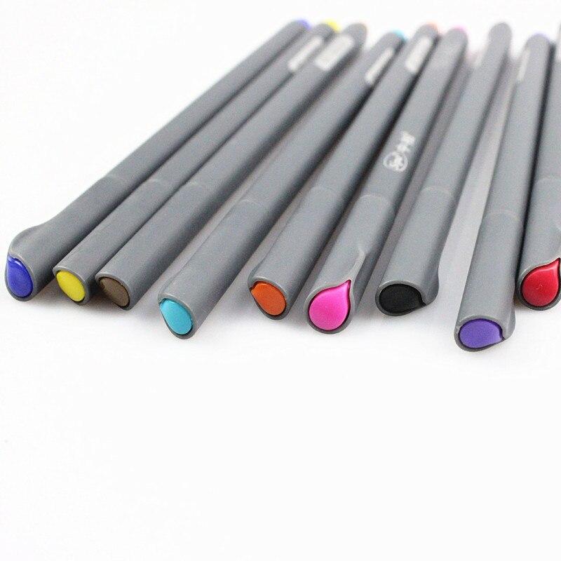 10 шт./лот тонкая грань рисунок для манга мультфильм рекламный дизайн акварель ручки канцелярия школьные принадлежности 6954
