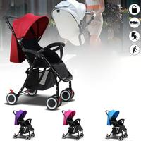 Foldable Baby Kids Travel Stroller Newborn Infant Pushchair Buggy Pram Lightweight Baby Carriage Can Sit Can lie