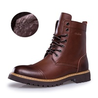 2018 New men's boots high fashion leather Martin boots men's shoes outdoor casual shoes men