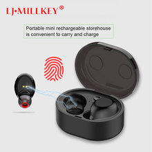 лучшая цена TWS Bluetooth 5.0 Earphone True Wireless Stereo Earbud IPX6 Waterproof Bluetooth Headset for Phone HD Communication YZ213