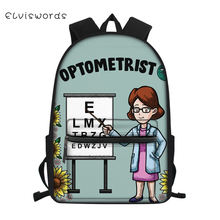 ELVISWORDS Fashion Childrens Canvas Backpack Cartoon Class Study Pattern Students School Book Bag  Kids Travel Backpacks