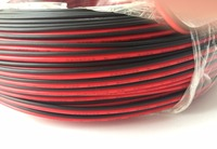 Free shipping UL LED Strip wires 100meters/lot for single color red&black 2pins cable wire extension AWG20 Standard