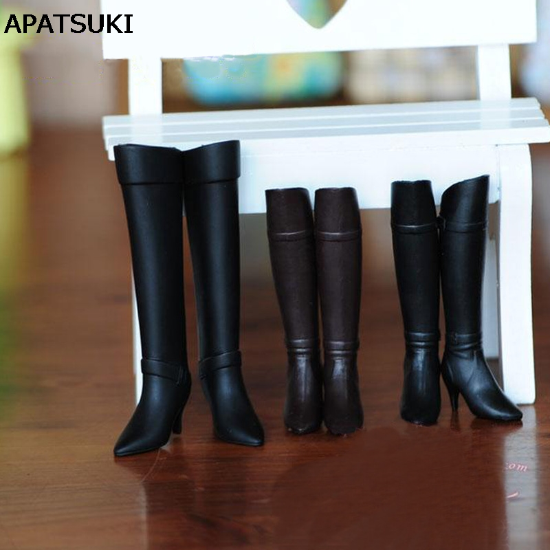 Fashion High Heel Shoes For Blythe Dolls 1/6 Long Boots For Licca Doll Mini Shoes For Momoko 1/6 BJD Doll Accessories exclusive shining boots for bjd 1 3 sd17 uncle ssdf id ip eid big foot doll shoes sm7