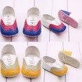 Bebé PU zapatos de cuero niño de la muchacha del muchacho zapatillas suela blanda zapatos del pesebre 0-1Y envío gratis