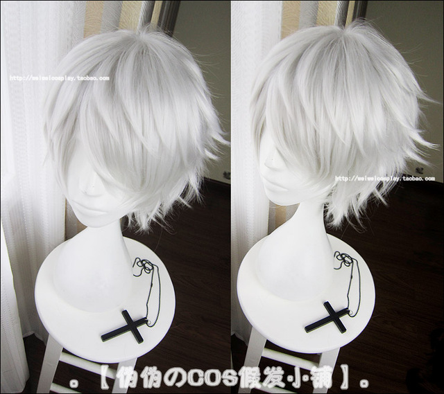 New Arrival Tokyo Ghoul Kaneki Ken Wig Short Straight Silver White Color Cosplay Costume Wigs