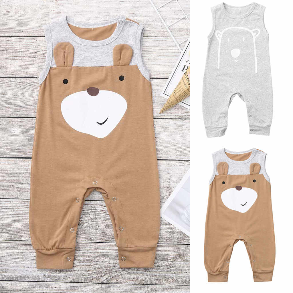 Toddler Kids Baby Boys Catoon Animal  Romper Jumpsuit Outfit Clothes Summer